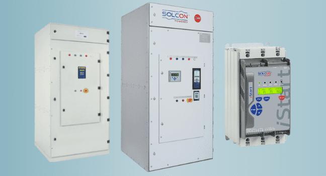 Низковольтные и высоковольтные устройства плавного пуска Solcon